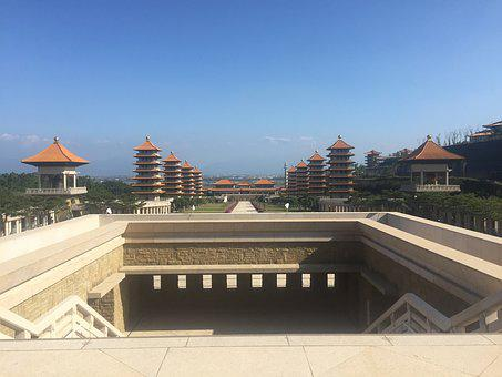 Fo Guang Shan, Kaohsiung, Temple, Buddhist, Religion