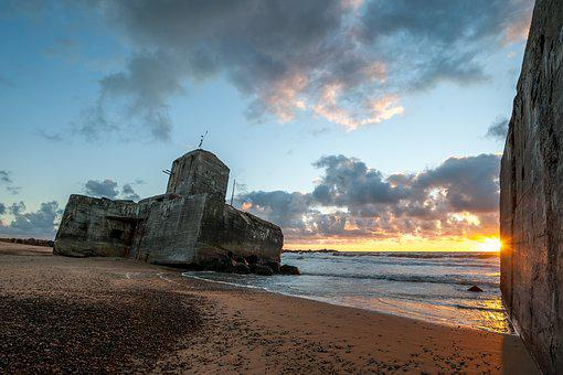 Ww2, Bunker, Coastal, Sunset, Thy, National Thy