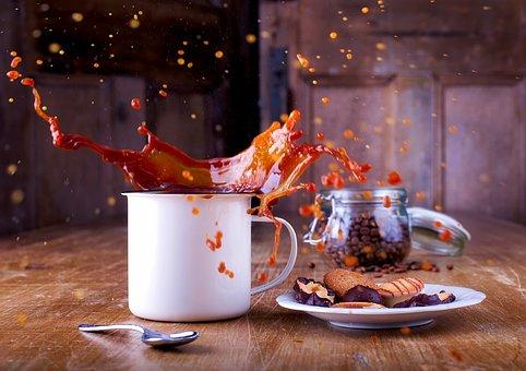 Coffee, Cup, Hot Chocolate, Splash, Liquid