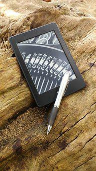 Ereader, Kindle, Note, Pen, Tablet, Reader Of Books