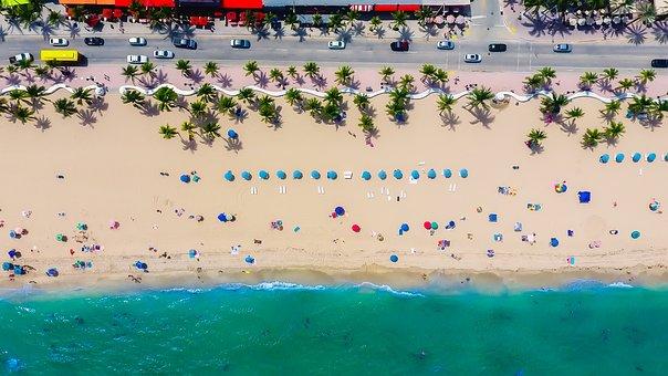 Fort Lauderdale, Florida, Sea, Ocean, Beach, Sand