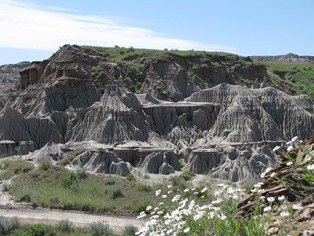 Badlands, Fossils, Drumheller, Alberta, Desert