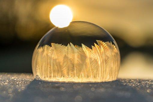 Soap Bubble, Soapbubble, Ice, Cold, Winter, Frozen
