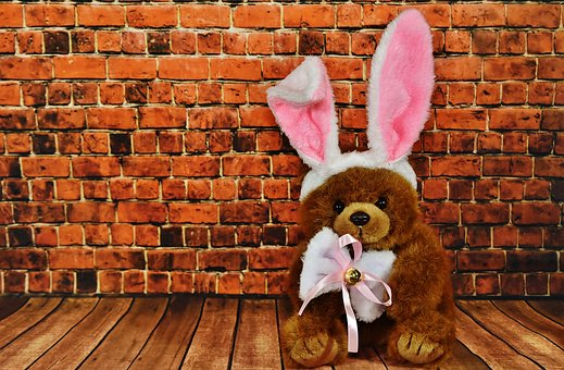 Easter Bunny, Greeting Card, Cute, Easter, Funny, Teddy