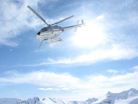 Heliskiing Heli-skiing, Canada Alaska, Helicopter