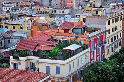 Roofs, Penthouse, Building, House, City, Rome