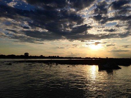 Abendstimmung, Clouds On Sea, Adriatic Sea, Italy