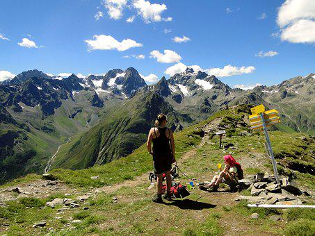 Mountain Hiking, Jause, Rest, Viewpoint, Gahwinden