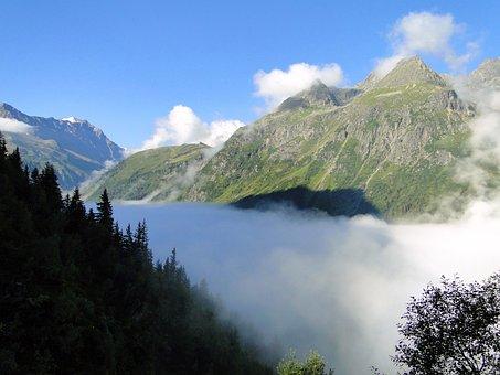 Mountain Panorama, Cloud Mood, Kaunergrat, Pitztal