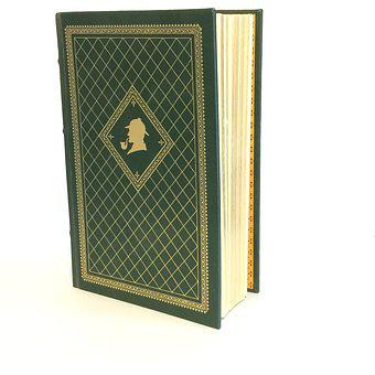Sherlock Holmes Book, Vintage Book, Leather Bound Book