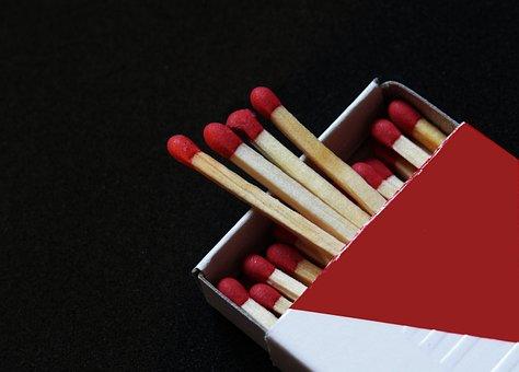 Matches, Fire, Kindle, Match, Burn, Flame, Box, Sticks
