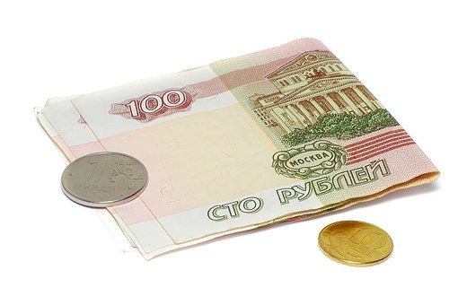 Money, Ruble, Penny, Bills, Coin, 100 Rubles, Finances