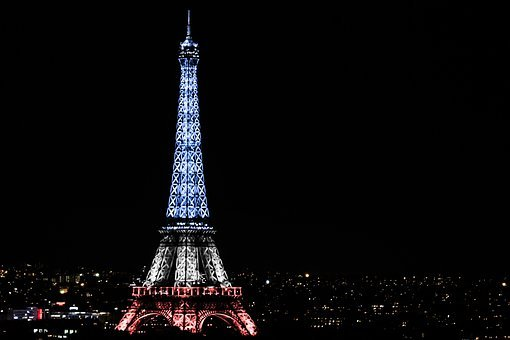 Eiffel Tower, National Day, Paris, Night, Lighting