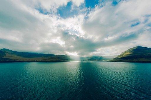 Faroe Islands, Mountains, Sea, Ocean, Water