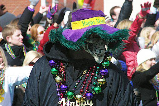 Mardi Gras, Parade, Event, Festival, Beads, Hat, Mask