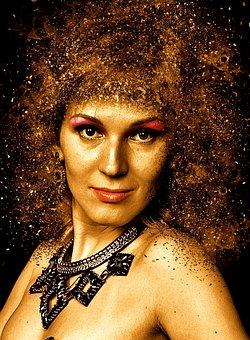 Woman, Portrait, Face, Hair, Cheerful, Female