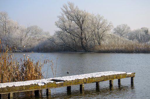 Winter, Cold, Nature, Ice, Snowy, River