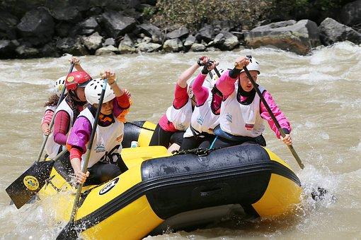 Georgia, Rafting, Sports, Borjomi, River, Alloy, Kura