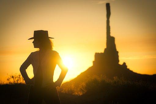 Sunset, Desert, Landscape, Sky, Arizona, Cactus