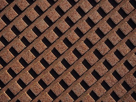 Rust, Rusty, Grid, Array, Pattern, Texture, Metal