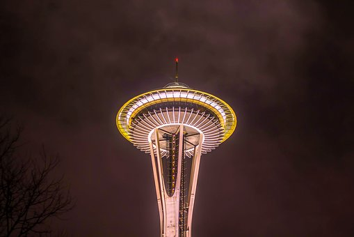 Seattle, Washington, City, Urban, Space Needle