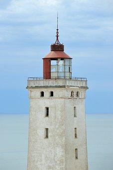 Lighthouse, Abandoned Lighthouse, Left, Tower, Rubjerg