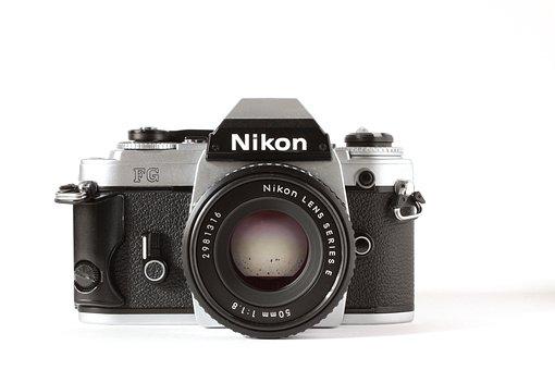 Nikon, Analog, Camera, Old Camera, Photograph, Vintage