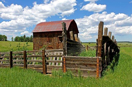 Old Barn, Barn, Colorado, Sky, Old, Wood, Wooden