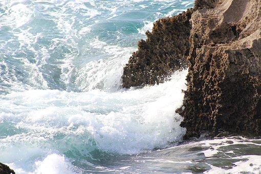 Waves, Sea, Rocks, Foam, Costa, Breakwater, Landscape