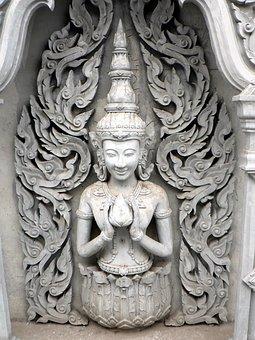 Thailand, Divinity, Sculpture, Alcove, Buddhism