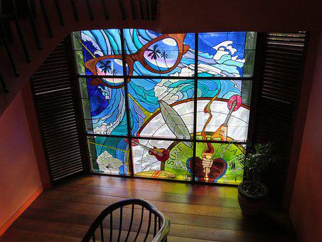 Stained Glass, Cartoon Pictures, Light And Shadow, Bali