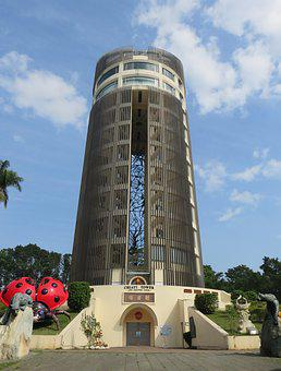 Taiwan, Chiayi, Park, Sun-shooting Tower, Attractions