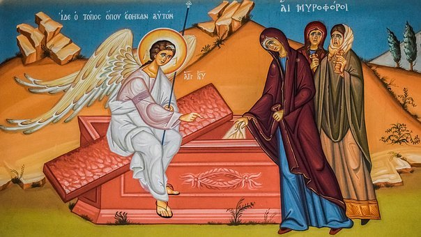 Myroforai, Resurrection, Iconography, Painting, Church