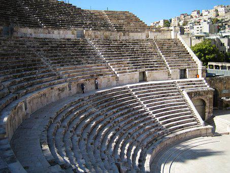 Amphitheater, Amman, Roman, Ancient, Old, Classical