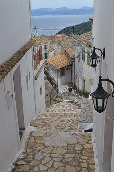 Corfu, Village, Mountains