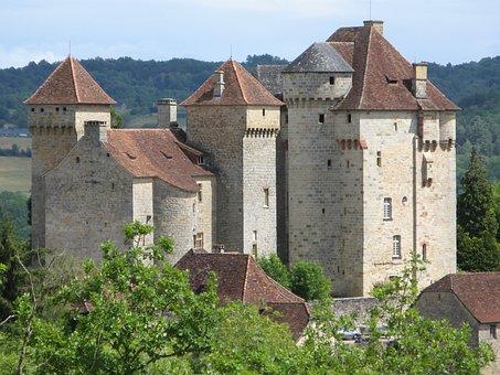 Castles, Curemonte, Corrèze, France