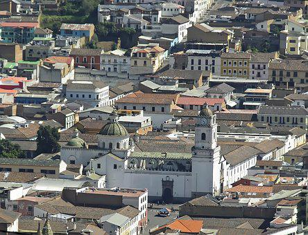 Ecuador, Cuenca, Panorama, Church, Convent, Buildings