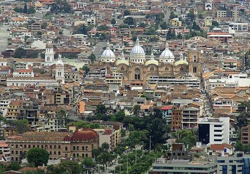 Ecuador, Cuenca, Cathedral, New, Panorama, Architecture