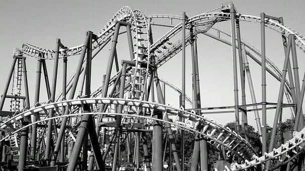 Roller Coaster, Fair, Speed, Fun, Cries, Games