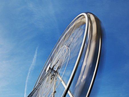 Ferris, Wheel, Motion, Spin, Turn, Rotate, Blur