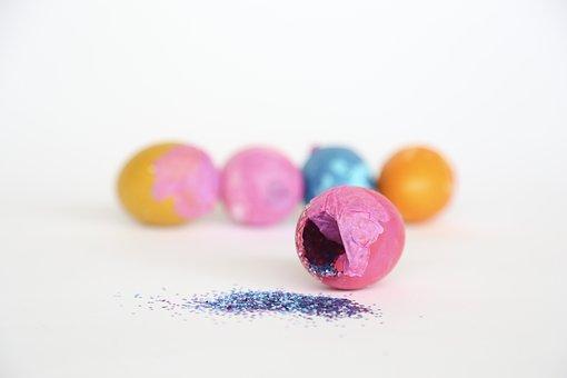 Eggs, Easter, Confetti, Glitter, Cascarones, Spring