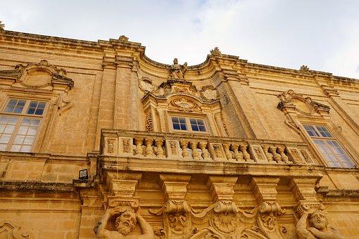 Home, Facade, Old, Window, Mdina, Malta