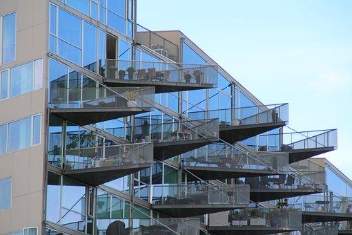 Balcony, Architecture, Home, Facade, Building, Modern