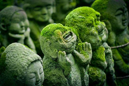 Kyoto, Japan, Statue, Jizo, Japanese, Religion, Culture