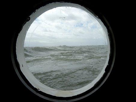 Porthole, Sailing Vessel, Sea, Water, Ship