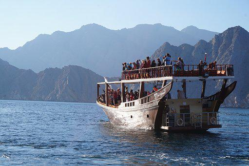 Dow, Fjiord, Boat, Sea, Water, Oman, Nature, Maritime