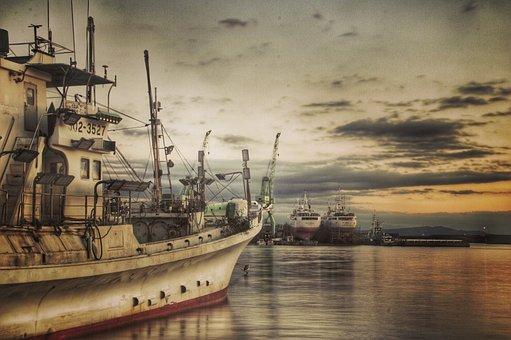 Fishing Boat, Sea, Port, Views, Landscape, Ship