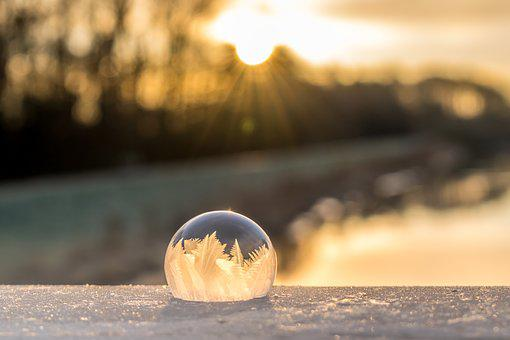 Soap Bubble, Frozen, Winter, Frozen Bubble, Wintry