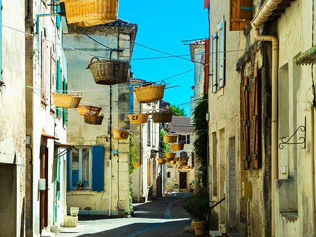 Wicker, Basket, Street, Vallabrègues, Custom, Tradition