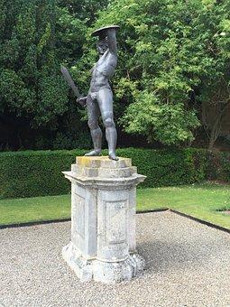 Statue, Blenheim, Male, Gardens, Sculpture, Thrower, Uk